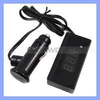 Promotional Slim Shape Voltage Tester 9V 30V with Red LED Car Volt Meter for Battery Digital Volt Meter