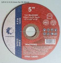 2 in 1 abrasive cutting disc for SS Metal