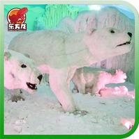 Realistic christmas decoration Animatronic Polar Bear Statue