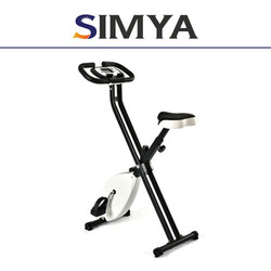Home foldable X shaped magnetic exercise bike body building fitness equipment
