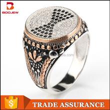 Guangzhou silver jewelry wholesale black stone platinum for men
