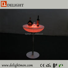 Outdoor color change led illuminated table/ led light cocktail table/ pub cocktail tables for sale