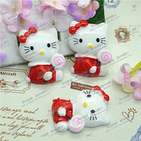 wholesale resin cute red KT cabochon for decoration 22*30mm