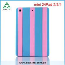 Colorful case for ipad mini, silicone case for ipad mini stripe soft case