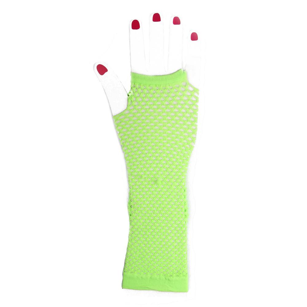 Green Fishnet Gloves Fishnet Gloves Lace Gloves