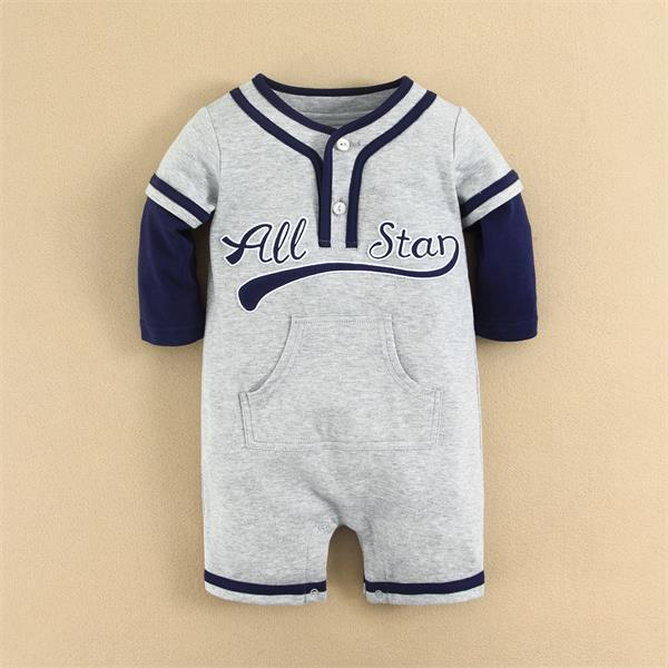 Wholesale Baby Clothes MOM AND BAB 2015 100%Combed Cotton Striped Baby Outwear Knitted Baby Romper Wholesale Romper
