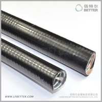 Good quality black waterproof flexible Electrical metal hose/ cable protector