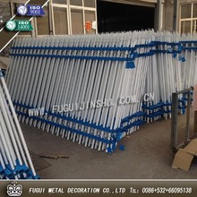 2015 new products of two rails and double top rails decorative spear top metal fence, wrought iron fence, steel fence