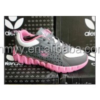 Fashion stock women casual shoes, girl sports shoe for clearance pink