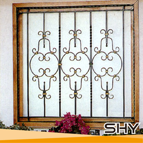 Wrought iron balcony window ornamental grills