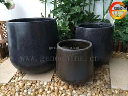 Outdoor Natural Stone Look Fiber Glass Flower Pot