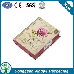 Book shape name card packaging tin box