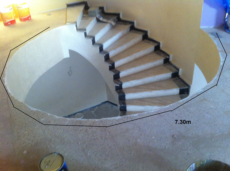 indoor crystal staircase handrail