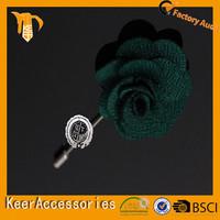 Fashion label pin hot sale festival fabric flower brooch corsage