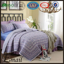Elegant continental brand home textile bed cover set cotton material print quilt