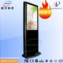 Beautiful lcd HD 1080p media ad player floor standing 55 inch