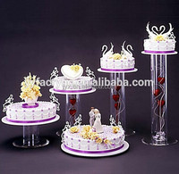 5 tier acrylic cake stands with lights