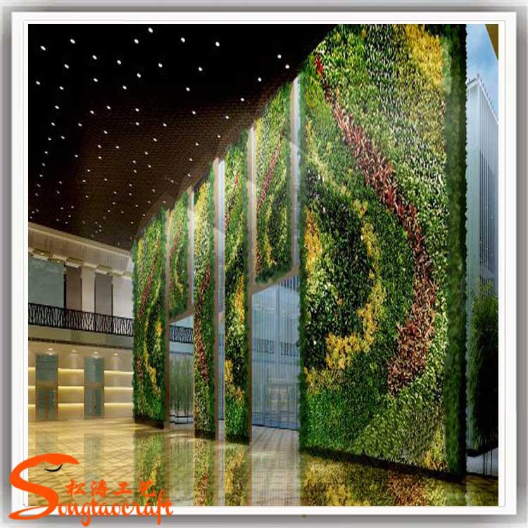 Indoor artificial green wall module vertical green wall Green walls vertical planting systems
