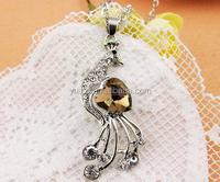 2015 South Korean peacock long necklace wholesale