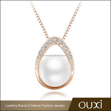 OUXI 2015 good imitation jewelry gold plated original pearl sets