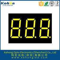 Shenzhen idea products triple digit 7 segment led bicolor display