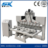 Rotary CNC router for 3d wood furniture columns sofa stair handrail MDF statue