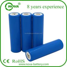 lithium battery 18650 1200mAh 1500mAh 1800mAh 2000mAh 2200mAh 2600mAh 3.7V rechargeable li ion battery