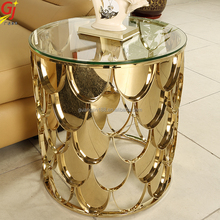 bedside end table fish scale sofa table ET-2012S