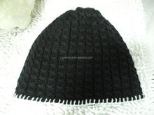 Merino wool knitted Black headwear