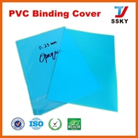 Transparent blue rigid thick plastic sheet book cover