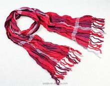 100% cotton plaid scarf ladies scarf