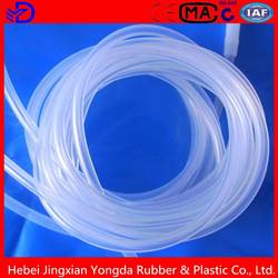 Hollow silicone foam tubes