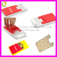 3M adhesive stickers mobile phone silicone case wallet,promotional wholesale custom 3M silicone cell phone wallet