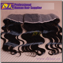 High quality natural color 6A grade brazilian virgin hair top closure body wave 3part silk base lace closure