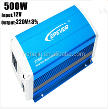 EPEVER 500W Off Grid Tie Inverter Pure Sine Wave 12V to AC 220V Energy Saving High Frequency Inverters for Solar Panel System