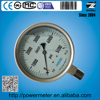 Exports to USA YBF110 5000 psi stainless steel air manometers 110mm