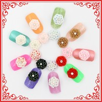 A027 Hot 10mm 3d Nail Art Decoration Nail Accessories Flower Style Acrylic Nails Supplies Fahsion Nail Beauty Salon