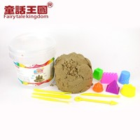 Hot sell colorful soft magic sand 1800g with 6 small castle models