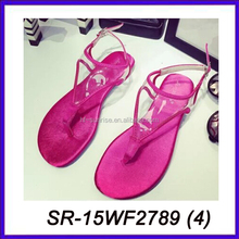 rose color 2013 new design girls fashion sandal flat sandals ladies flat sandals