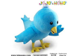 New High Quality Soft Plushblue bird plush toy For Hot Sales soft toys popular birds