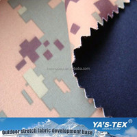 Waterproof Camouflage Printing Woven Nylon Fabric Bonded Polyester Knit Fabric For Jacket
