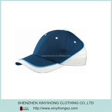 Mens contrast color black-blue sports cap