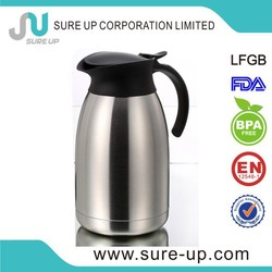 PP cap lever insulated coffee jug tea pot for 2015(JSUF)