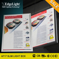 Edgelight New generation retail shop advertise double side small display light box made in China