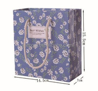 Wholesale promotional fashional paper gift bag with cheap price