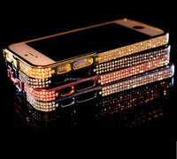 Funky mobile phone case frame cover crystal bling phone case for iphone 6