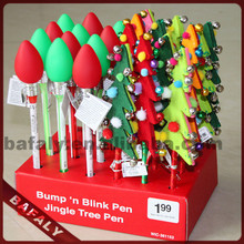 Promotion hot sell new style factory directly christmas tree pen,novelty christmas tree pen,LED flashing pen