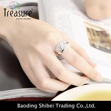 Alibaba New Arrival copper rings pave zircon