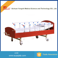 Movable Semi-fowler Manual Home Care patient Bed by hand control for sale