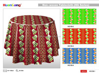 Christmas printed hot sales plastic tablecloth